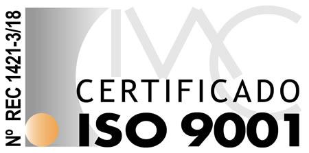 Empresa certificada con ISO 9001
